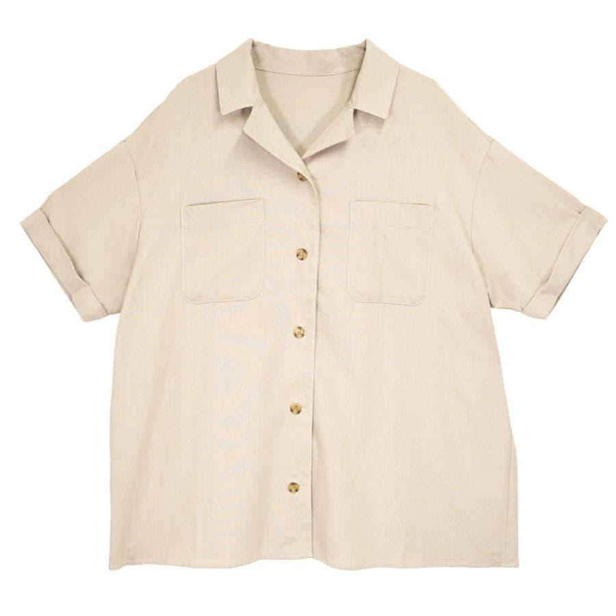 リネンオープンカラーシャツ オーバーシャツ レディース オープンカラー シャツ シンプル 上品 華奢見え映え 春 夏 アイボリー ベージュ キャメル ピスタチオ トレンド トップス 大人 プチプラ サンゴ ノーフォール sangonofall 200002 41