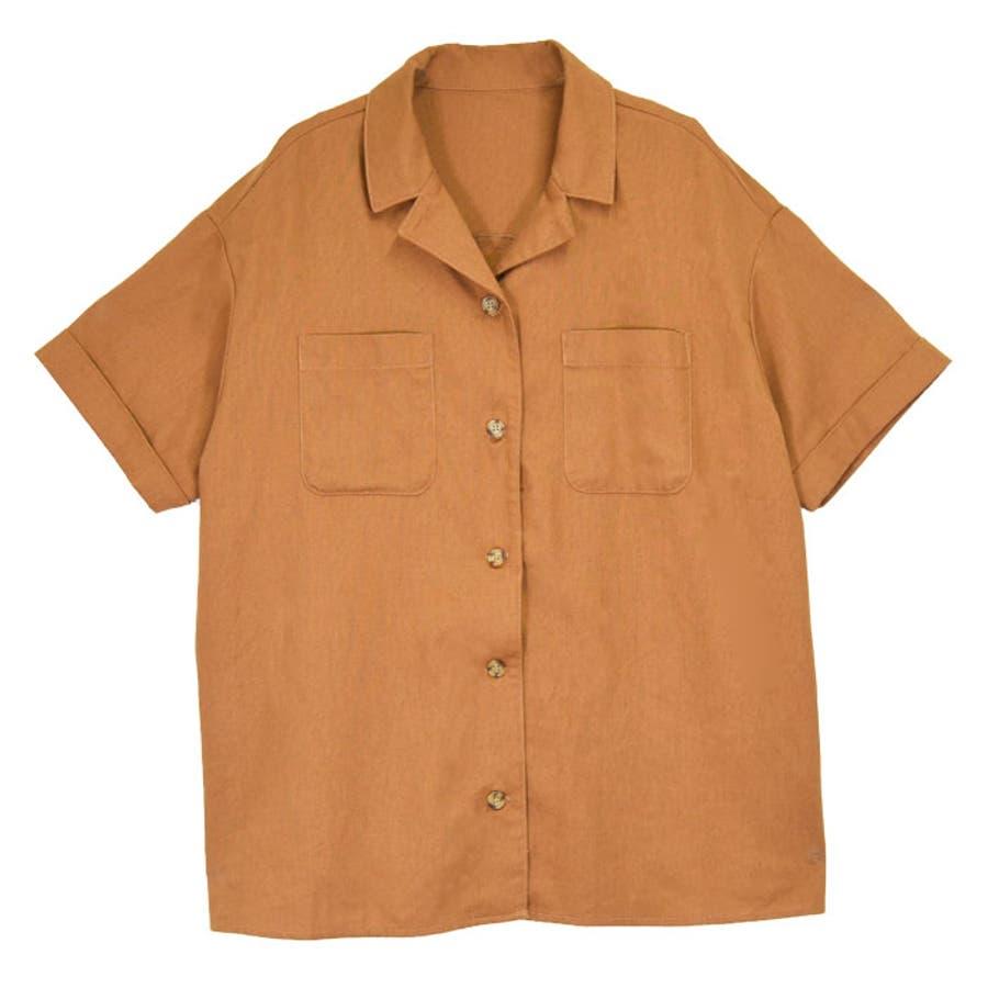 リネンオープンカラーシャツ オーバーシャツ レディース オープンカラー シャツ シンプル 上品 華奢見え映え 春 夏 アイボリー ベージュ キャメル ピスタチオ トレンド トップス 大人 プチプラ サンゴ ノーフォール sangonofall 200002 33