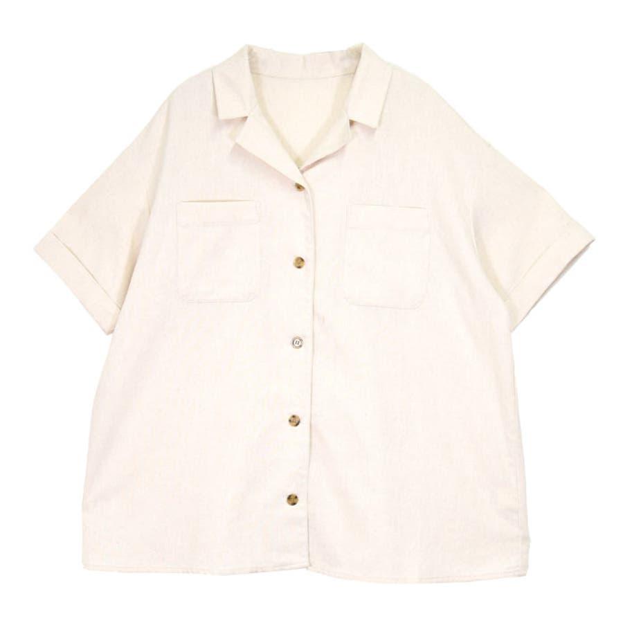 リネンオープンカラーシャツ オーバーシャツ レディース オープンカラー シャツ シンプル 上品 華奢見え映え 春 夏 アイボリー ベージュ キャメル ピスタチオ トレンド トップス 大人 プチプラ サンゴ ノーフォール sangonofall 200002 18
