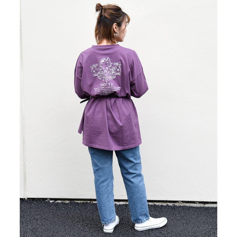 天使プリントロンT レディース 長袖 77