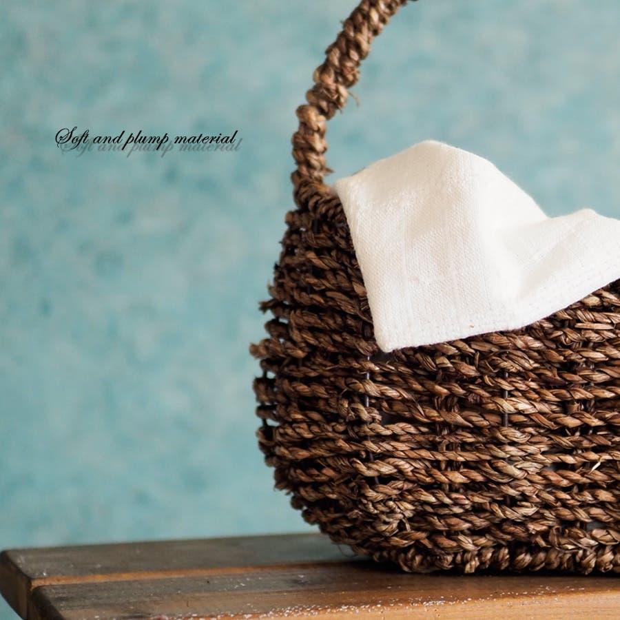 かごバッグ 女性 ヒヤシンス かご カゴ シンプル ブラウン バスケット インテリア 天然素材 3