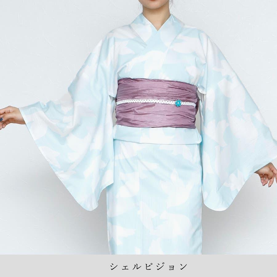 女性浴衣 レディース浴衣 浴衣 単品 浴衣単品 レトロ 仕立て上がり 女性用 フリー  ホワイト 白 青 ブルー 7