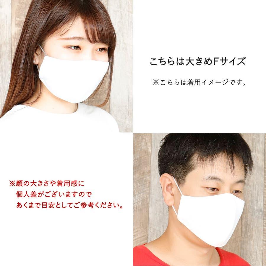 布マスク 大人マスク 立体  UVカット 大きめ立体 ブルー 日本製 洗えるマスク 5