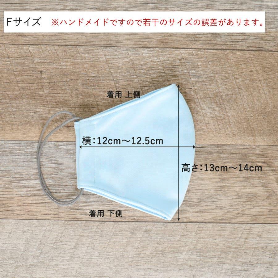 布マスク 大人マスク 立体  UVカット 大きめ立体 ブルー 日本製 洗えるマスク 6