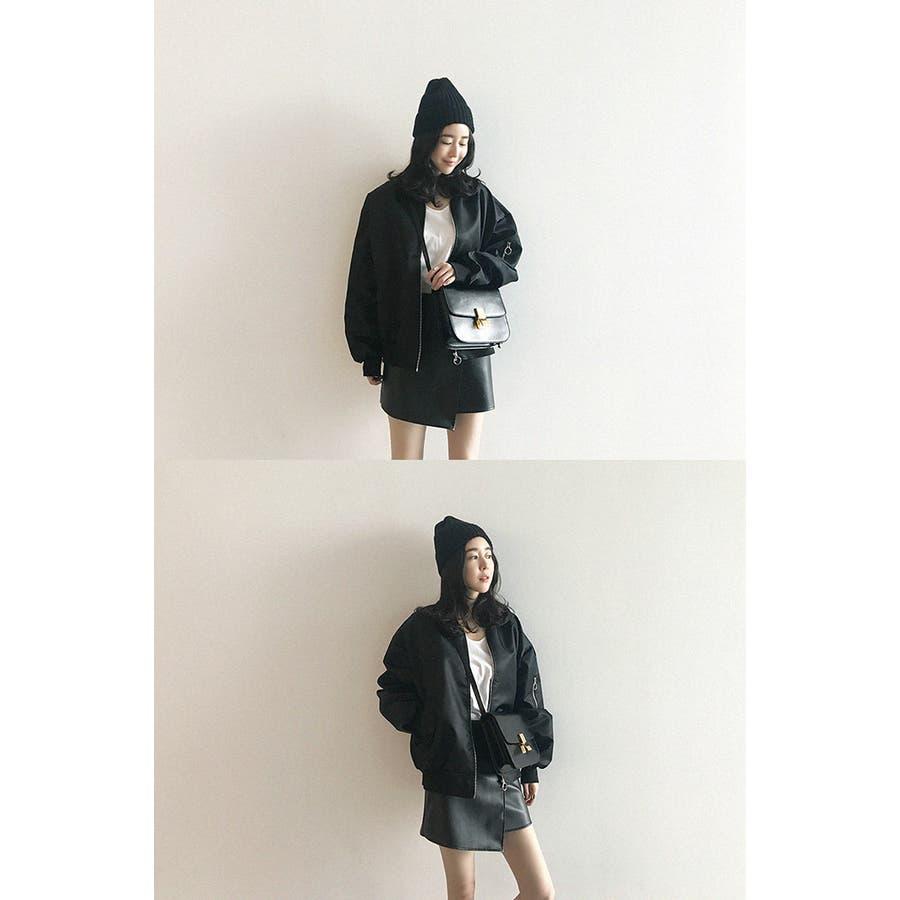 NANING9(ナンニング)シンプルMA,1 韓国 韓国ファッション MA,1 黒 ブラック