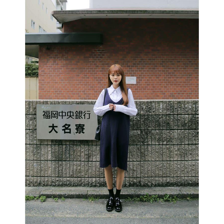 MERONGSHOP(メロンショップ)ニットビスチェワンピース 韓国 韓国ファッション トップス ワンピース ニット ビスチェキャミソール