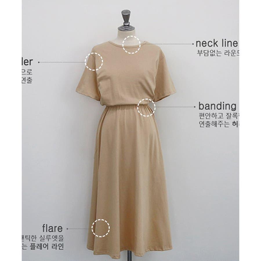 cae4973c290d4 NANING9(ナンニング)半袖ブラウジングワンピース韓国韓国ファッション半袖ワンピ夏ワンピース半袖フレア