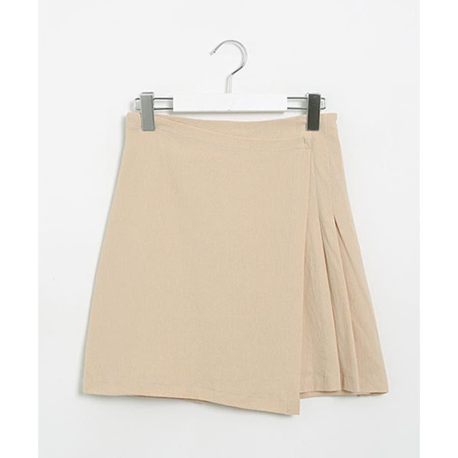 SONYUNARA(ソニョナラ)スクエアネックラップスカートセットアップ韓国 韓国ファッション 夏 夏休み リネンセットアップラップスカート デイリー デート スクエアネック 半袖 3