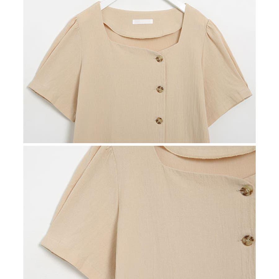 SONYUNARA(ソニョナラ)スクエアネックラップスカートセットアップ韓国 韓国ファッション 夏 夏休み リネンセットアップラップスカート デイリー デート スクエアネック 半袖 8