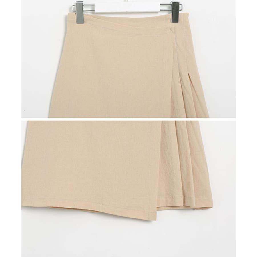 SONYUNARA(ソニョナラ)スクエアネックラップスカートセットアップ韓国 韓国ファッション 夏 夏休み リネンセットアップラップスカート デイリー デート スクエアネック 半袖 9