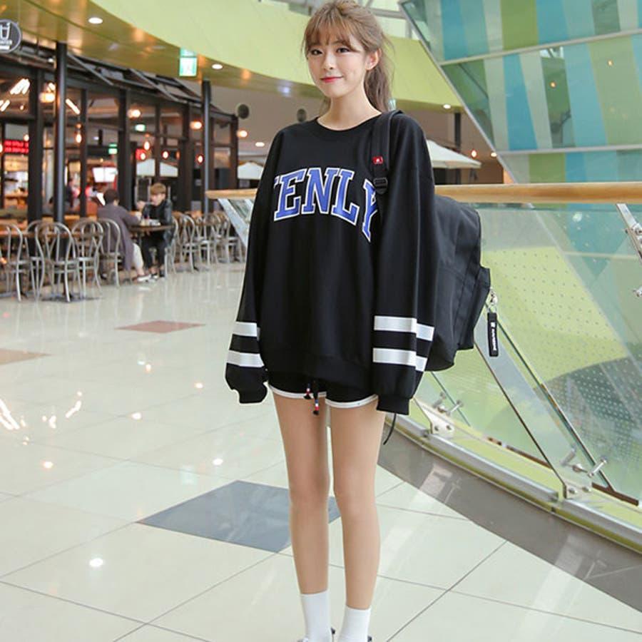 SONYUNARA(ソニョナラ) スポーティ セットアップ 韓国 韓国ファッション スポーティ セットアップ ストリート 秋短パンスポーツ スエット