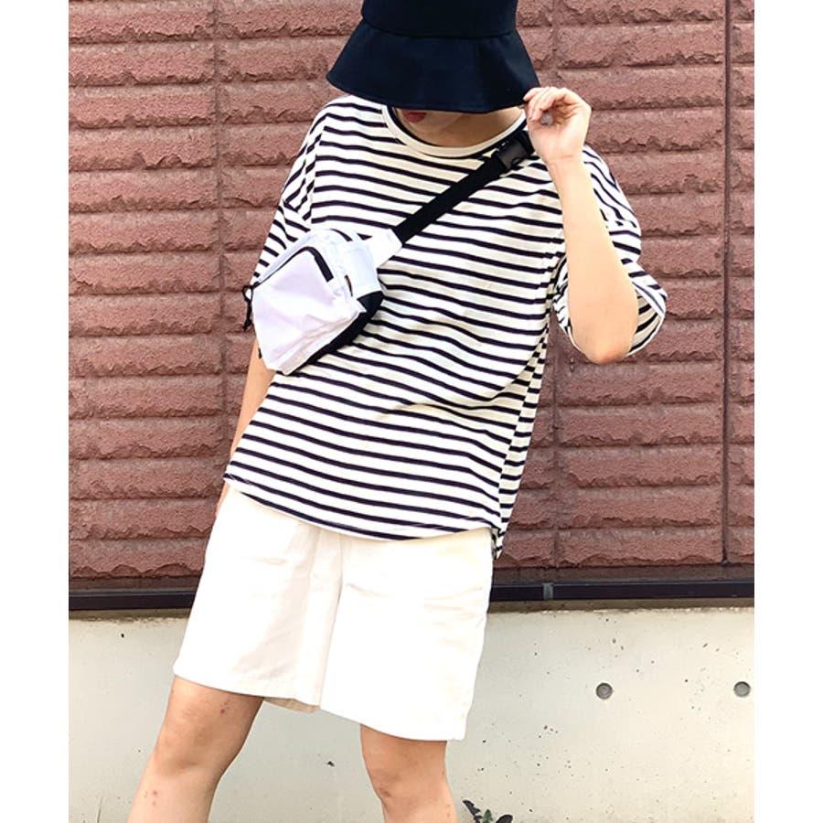 MICHYEORA(ミチョラ)ワイド袖ボーダーTシャツ韓国韓国ファッション トップス ワイド袖 ボーダートップス 長袖 カットソー ボーダー ベーシック  7