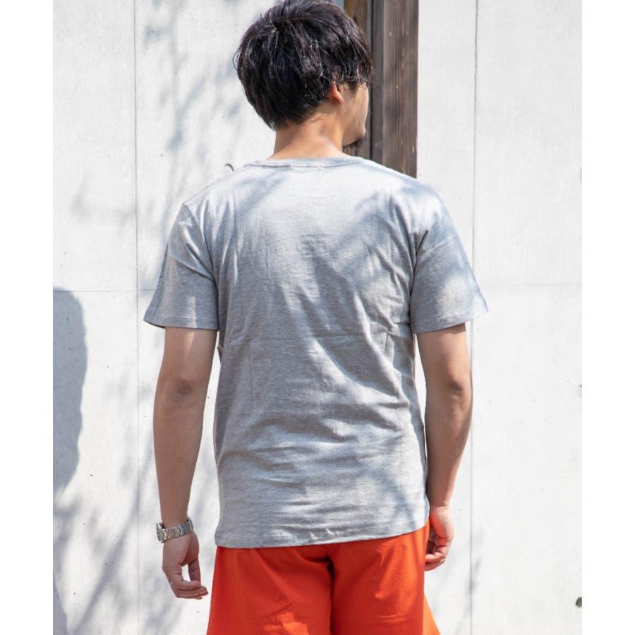 サガラ刺繍 星条旗 CITYロゴ クルーネック 半袖 Tシャツ 5