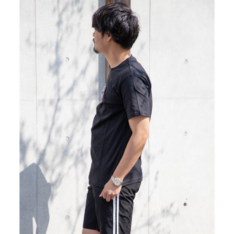 サガラ刺繍 星条旗 CITYロゴ クルーネック 半袖 Tシャツ 7