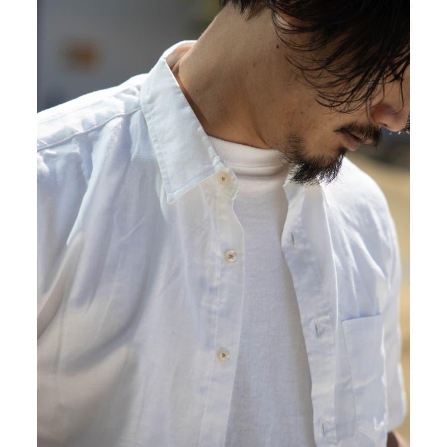 NYLAUS 綿麻 ストレッチ 半袖シャツ 8
