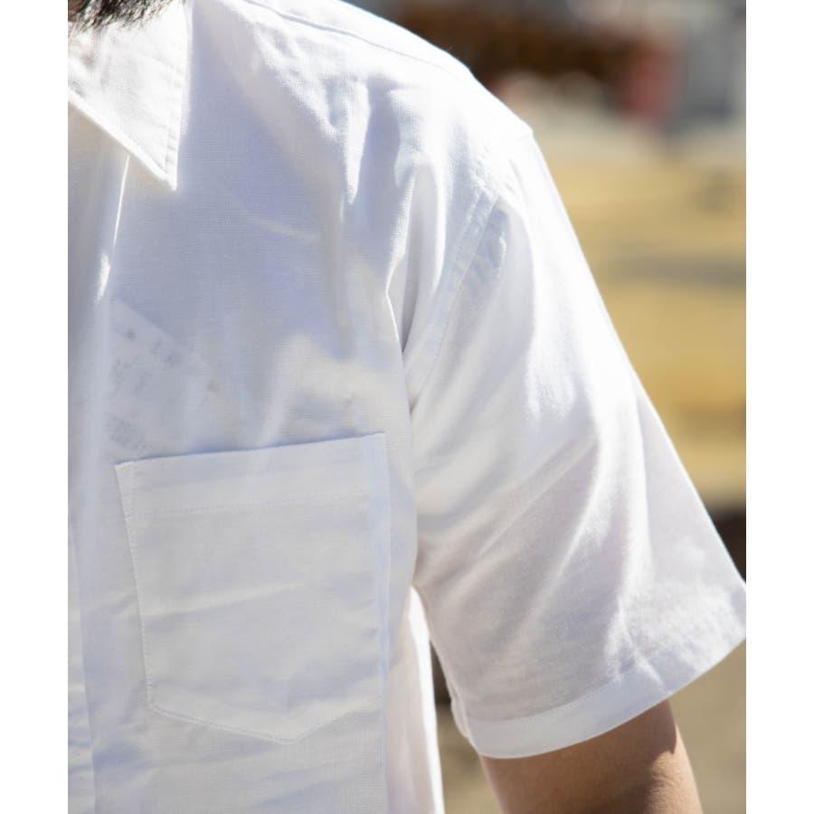 NYLAUS 綿麻 ストレッチ 半袖シャツ 9