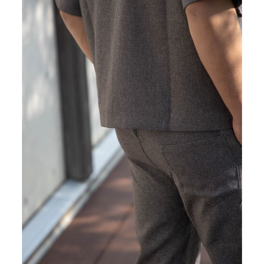 NYLAUS ビッグシルエット 麻ライク 杢 半袖 ミリタリーシャツ ワークシャツ 6