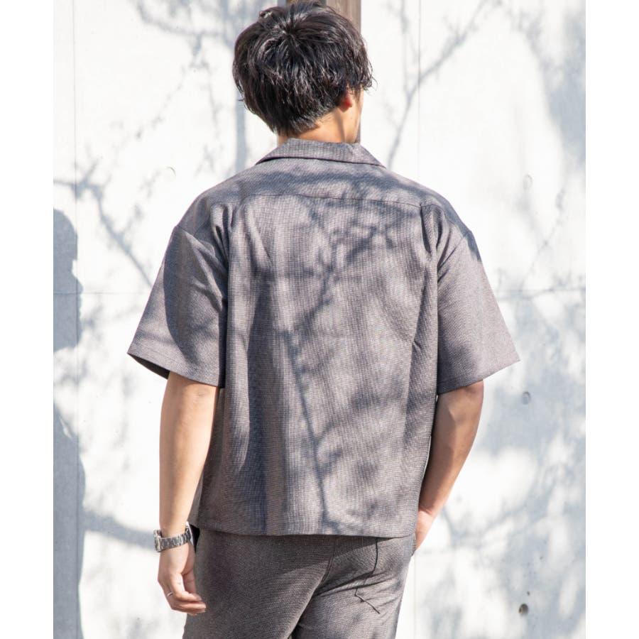 NYLAUS ビッグシルエット 麻ライク 杢 半袖 ミリタリーシャツ ワークシャツ 8