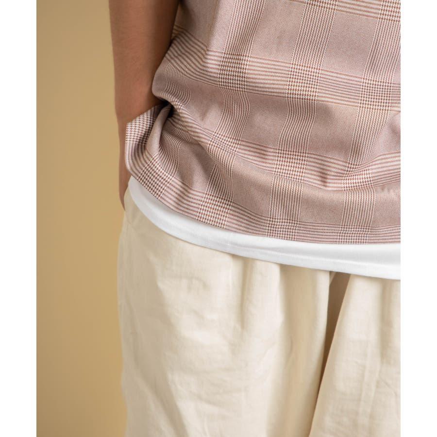 NYLAUS 2点セット ストレッチ プルオーバー オーバーシャツ/ビッグタンクトップ 6