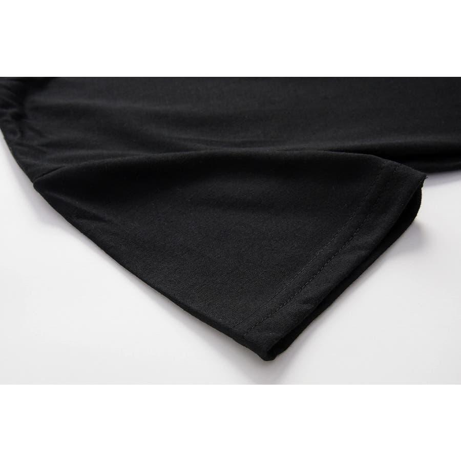 tシャツ レディース 半袖 カットソー ロゴt プリント 大人 おしゃれ かっこいい かわいい 春 夏 白 黒 ホワイト ブラック 8