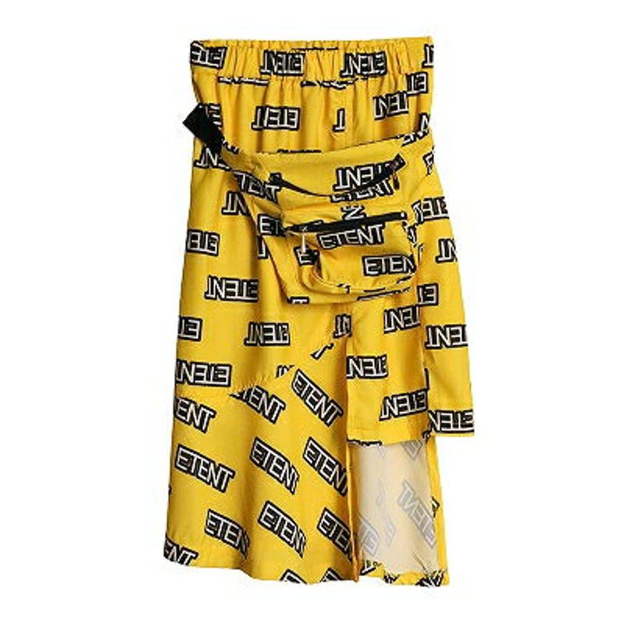 アシンメトリースカート ウエストポーチ付 膝丈スカート 8
