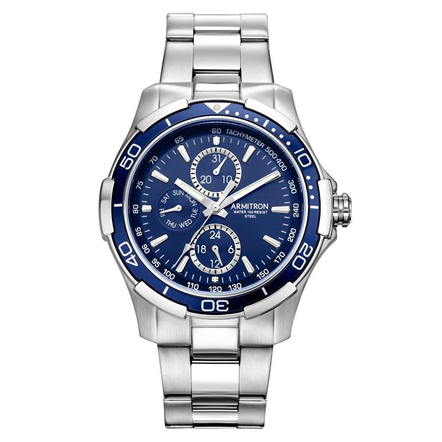 ARMITRON 腕時計 アナログ 多機能ウォッチ ステンレス 103