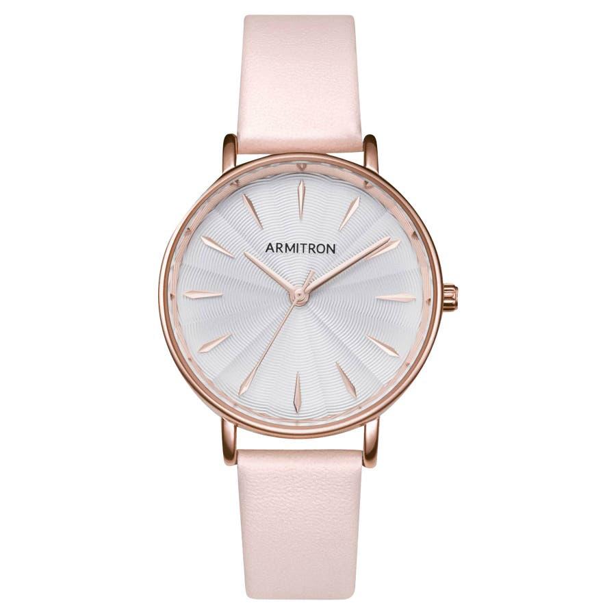 ARMITRON 腕時計 レディース アナログ ブラッシュレザーウォッチ 87