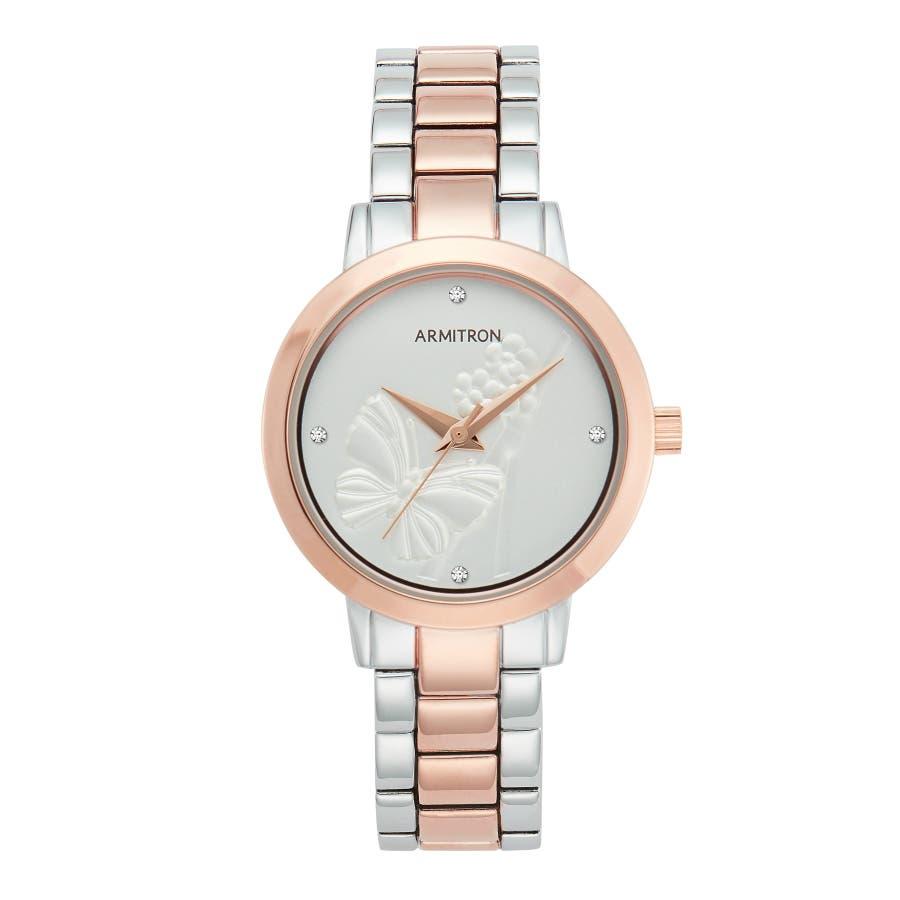 ARMITRON 腕時計 レディース アナログ ツートーン ドレスウォッチ 103