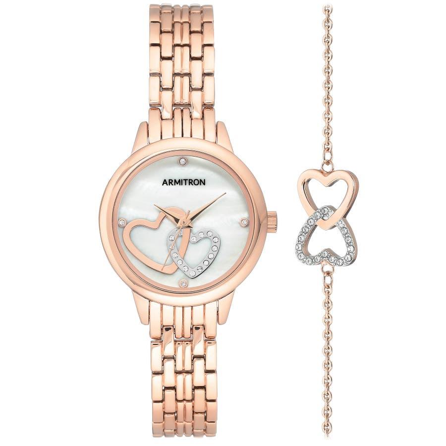 ARMITRON 腕時計 レディース アナログ ドレスウォッチ ボックスセット