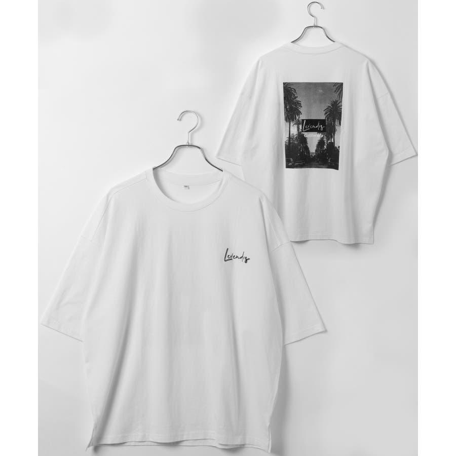 【LEVENDIS(レベンディス)】バックプリント ドロップショルダー Tシャツ ロゴ付き(ユニセックス) 16