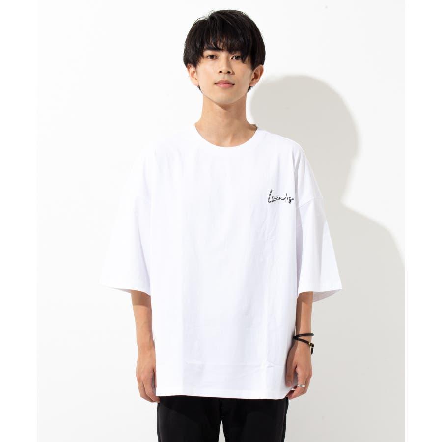 【LEVENDIS(レベンディス)】バックプリント ドロップショルダー Tシャツ ロゴ付き(ユニセックス) 4