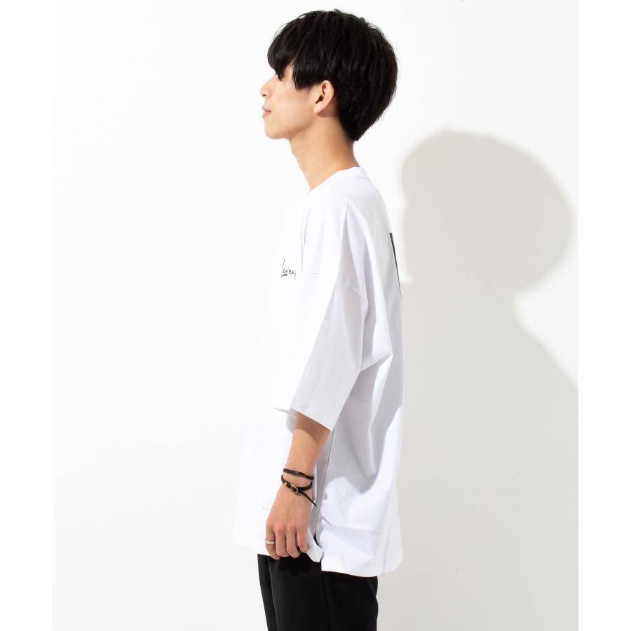 【LEVENDIS(レベンディス)】バックプリント ドロップショルダー Tシャツ ロゴ付き(ユニセックス) 5