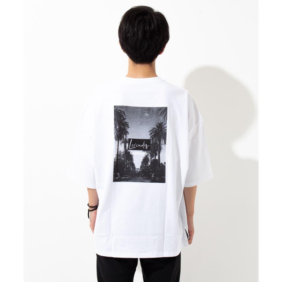 【LEVENDIS(レベンディス)】バックプリント ドロップショルダー Tシャツ ロゴ付き(ユニセックス) 6