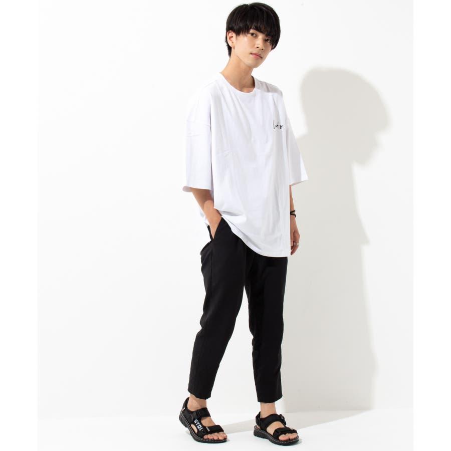 【LEVENDIS(レベンディス)】バックプリント ドロップショルダー Tシャツ ロゴ付き(ユニセックス) 2
