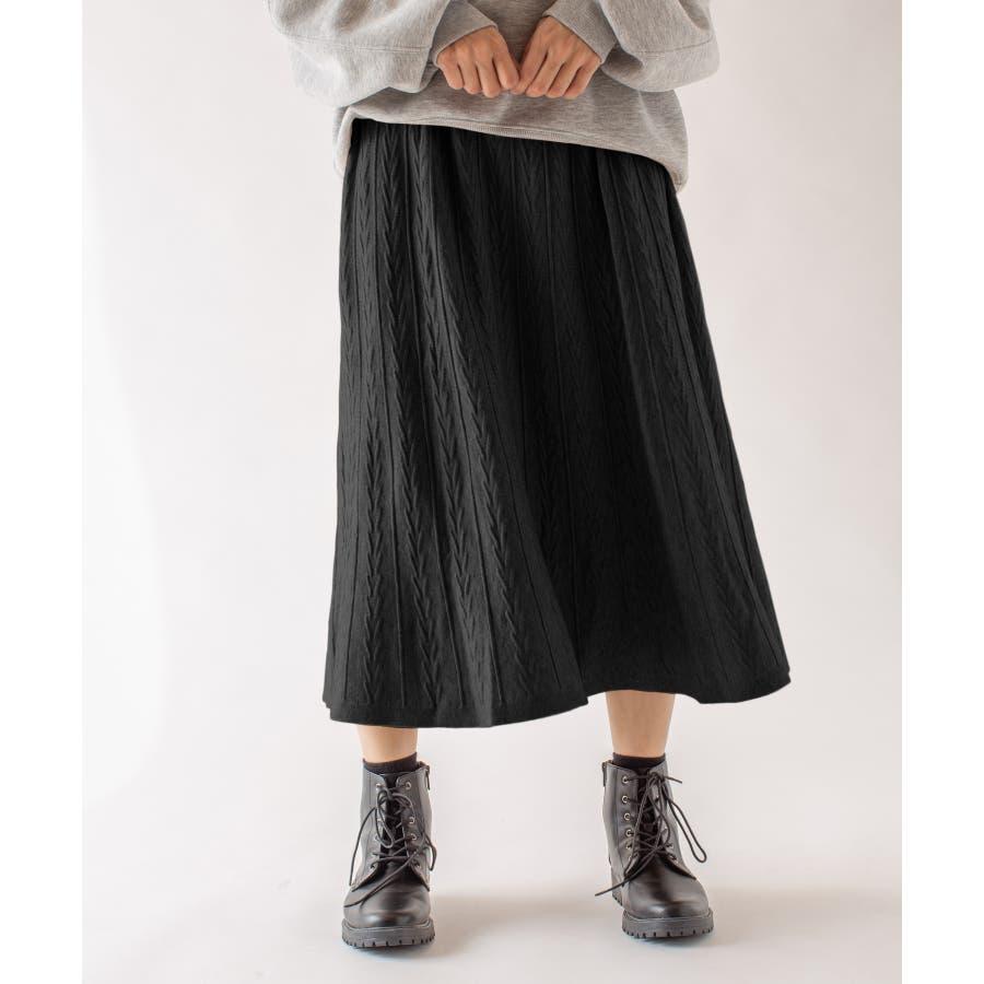 春先まで着られる♪ニットスカート 21