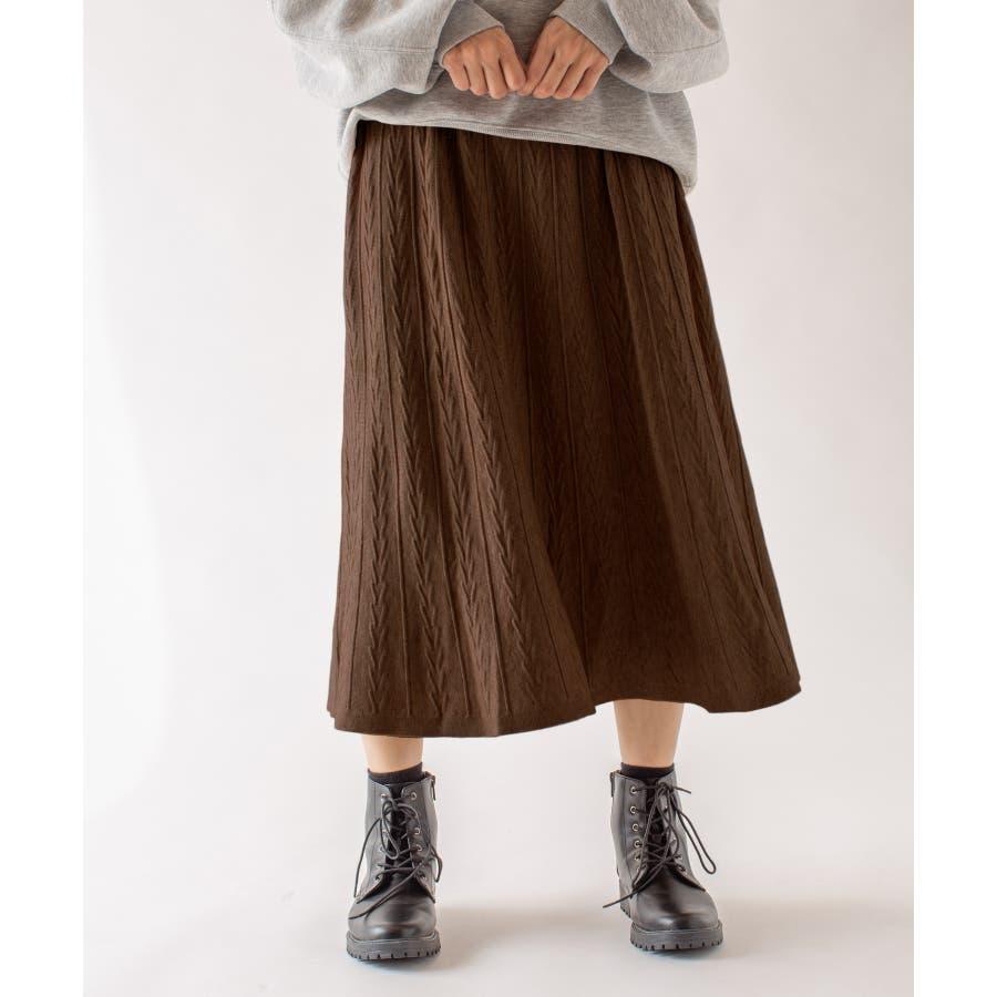 春先まで着られる♪ニットスカート 35