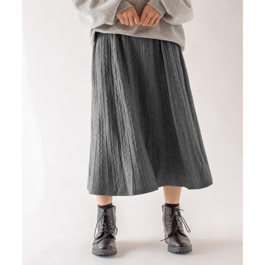 春先まで着られる♪ニットスカート 23