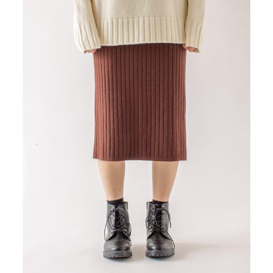 春先まで着られる♪リブニットスカート 29