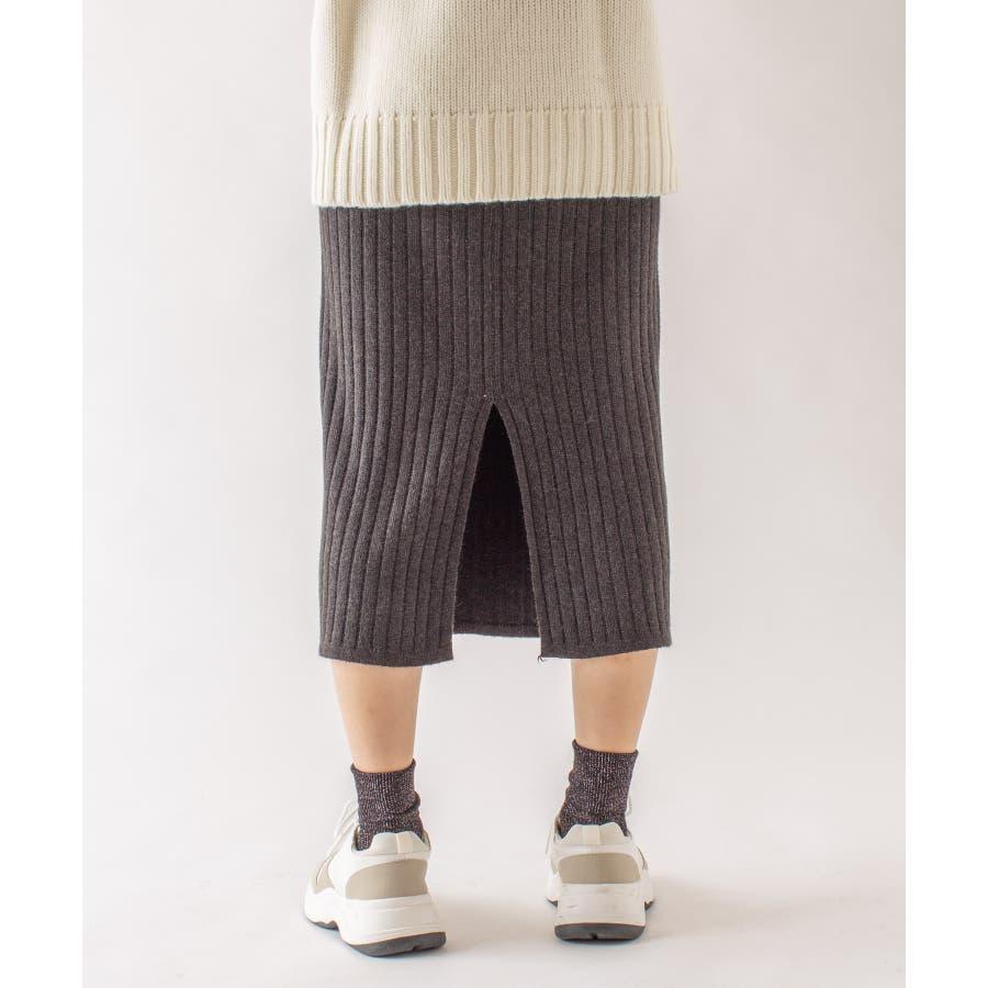 春先まで着られる♪リブニットスカート 3