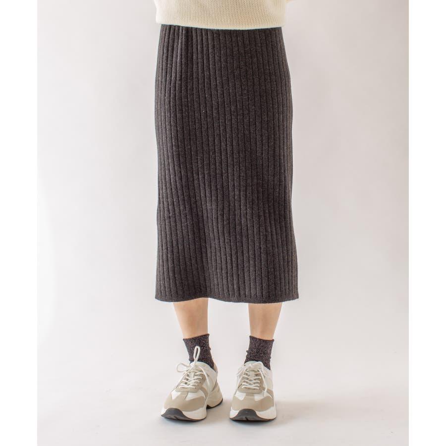 春先まで着られる♪リブニットスカート 1