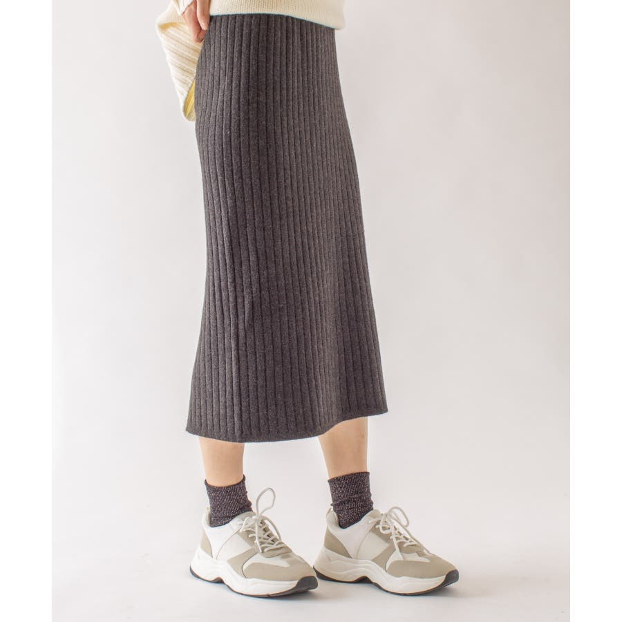 春先まで着られる♪リブニットスカート 2