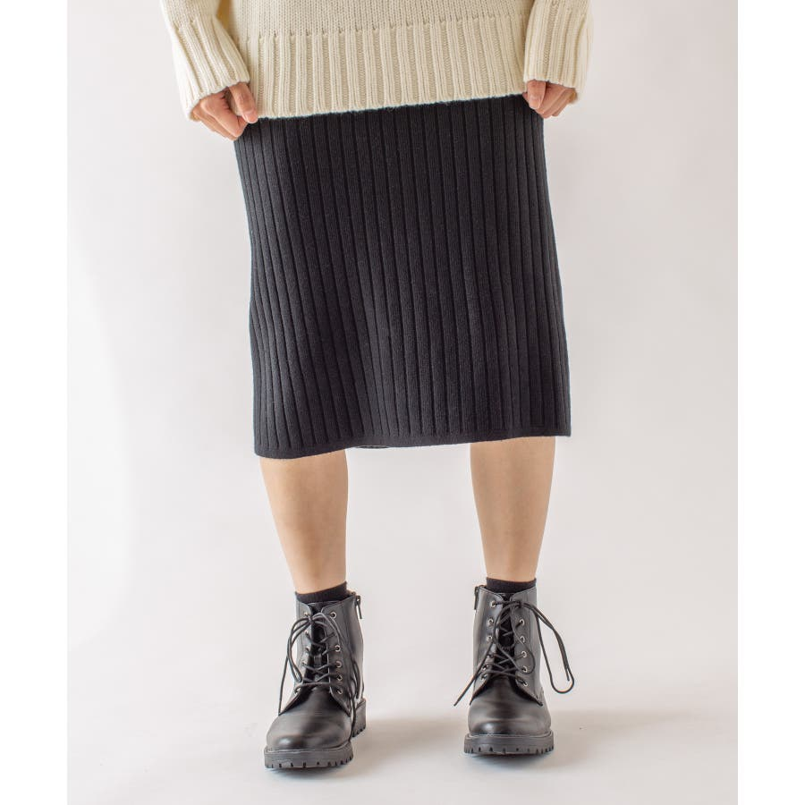 春先まで着られる♪リブニットスカート 26