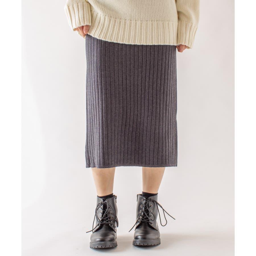 春先まで着られる♪リブニットスカート 23