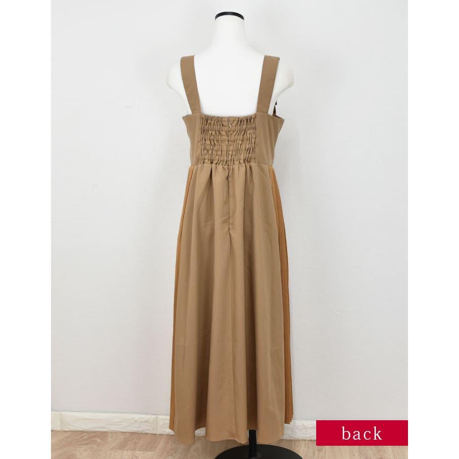 サイドプリーツジャンパースカート ベージュ ブラック 5