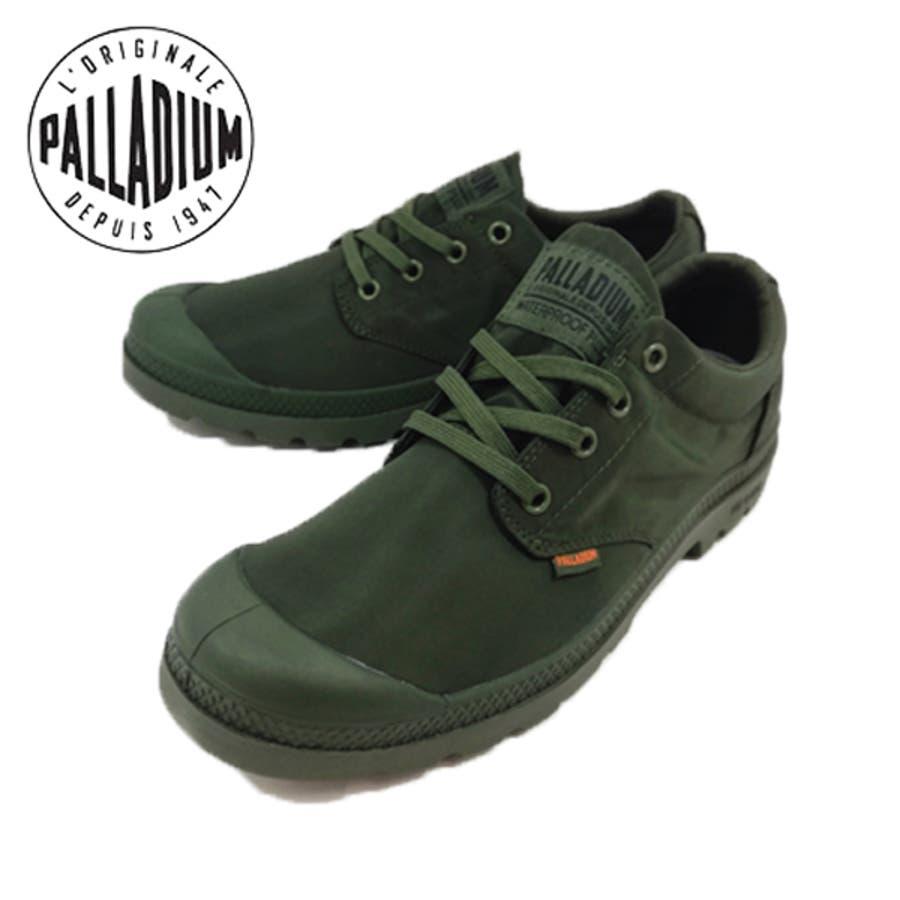 パラディウム パドルライト PALLADIUM 76356 スニーカー ウォータープルーフ 防水 雨【メンズ】グリーン 303緑【メンズ】 1
