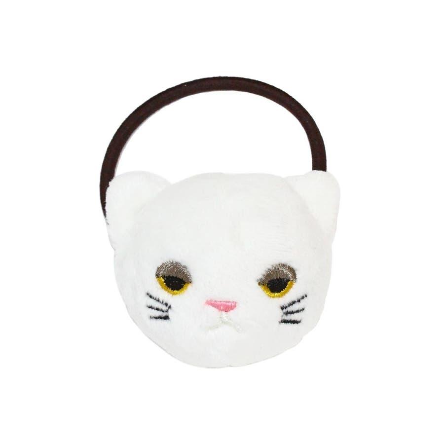 ヘアゴム 目つきの悪いネコ ぬいぐるみ ヘアポニー[お世話や][osewaya] 1