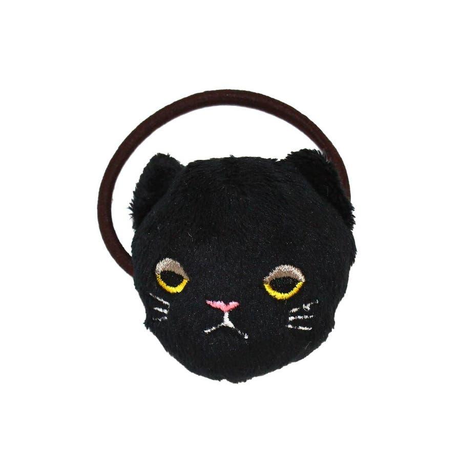 ヘアゴム 目つきの悪いネコ ぬいぐるみ ヘアポニー[お世話や][osewaya] 2