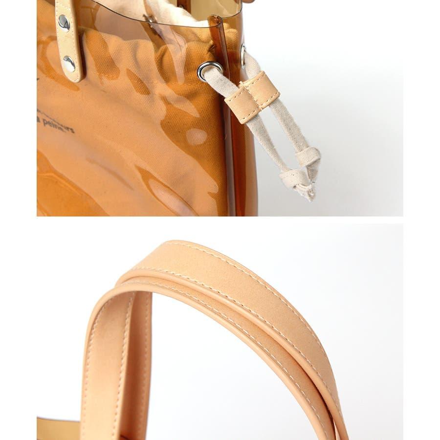 73bc124ab958 インナーキャンバスバッグ付きクリアトートレディースクリアバッグ鞄かばんカバン持ち手ハンドバッグトート