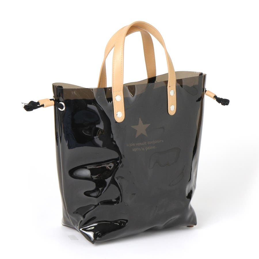 b826659ecdc6 インナーキャンバスバッグ付き クリアトート レディース クリアバッグ 鞄 ...