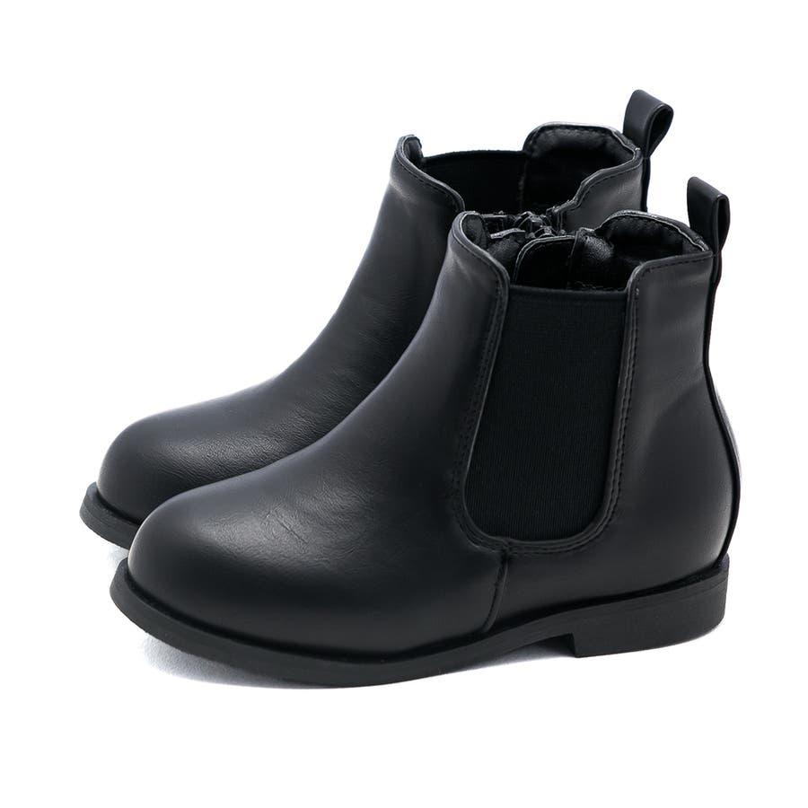 キッズ サイドゴア ブーツ サイドゴアブーツ 内側サイドジップ ショートブーツ 1.5cmヒール 痛くない 歩きやすい疲れない滑りにくい 防寒 ラウンドトゥ ローヒール ぺたんこ フラットヒール キッズシューズ 21